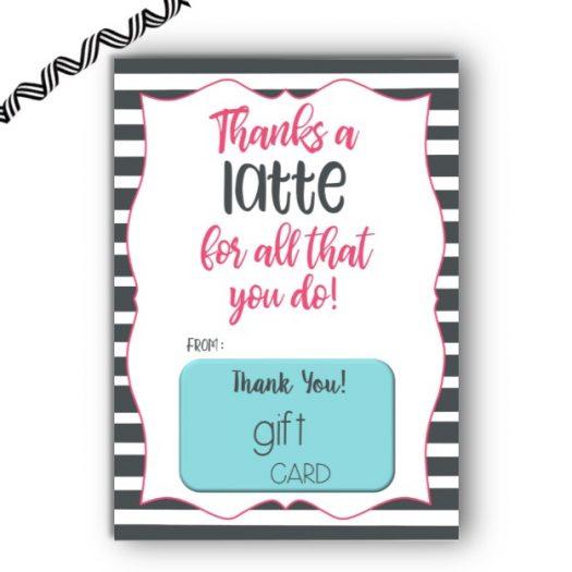 Latte Gift Card Holder