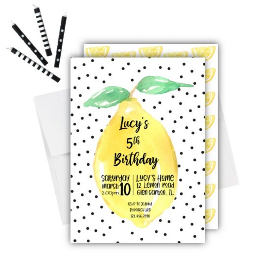 Lemon Birthday Invitation