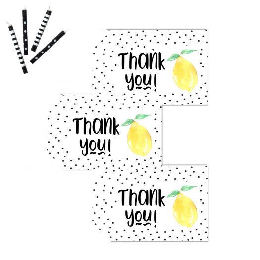 Lemon Favor Thank You Tags