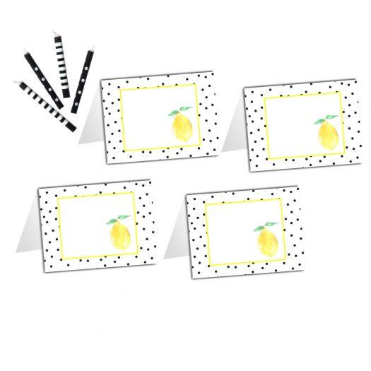 Lemon Food Tent Cards