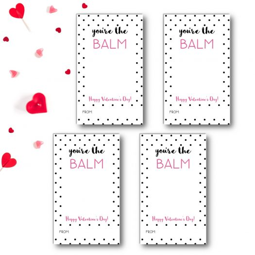 Lip Balm Kids School Valentines Cards
