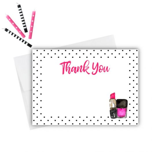 Makeup Thank You Card