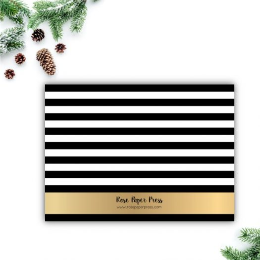 Modern Gold Stripe Holiday Card