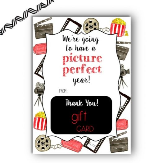 Movie Back to School Gift Card Holder
