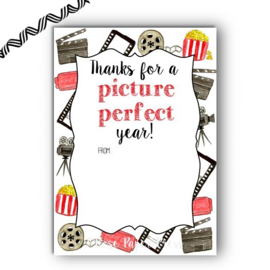 Movie End of School Gift Card Holder