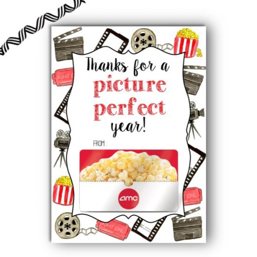 Movie Teacher Gift Card Holder