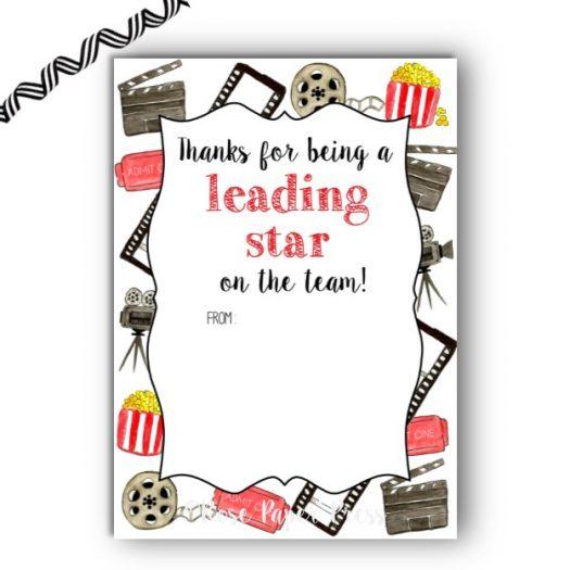 Movie Team Appreciation Gift Card Holder