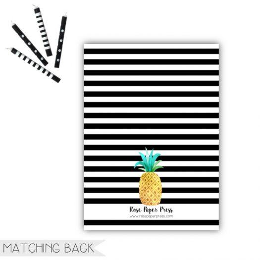 Pineapple Birthday Invitation Back
