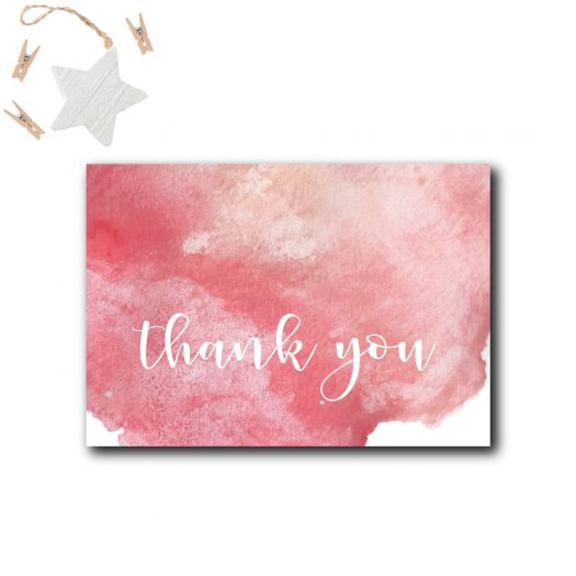 Pink Baby Shower Thank You Card