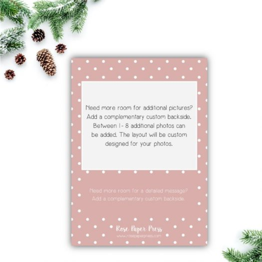 Pink Dots Holiday Card Back Upgrade