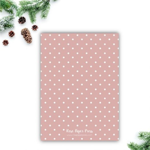 Pink Polka Dots Holiday Card
