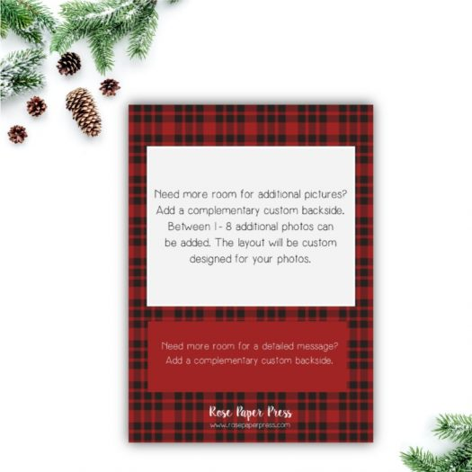Plaid Christmas Card Back Upgrade