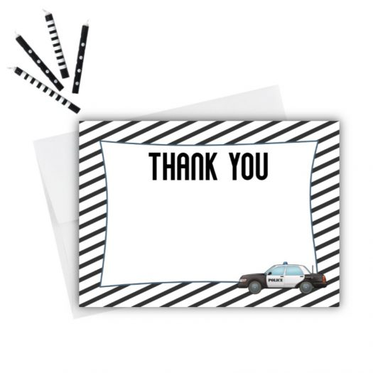Police Thank You Card