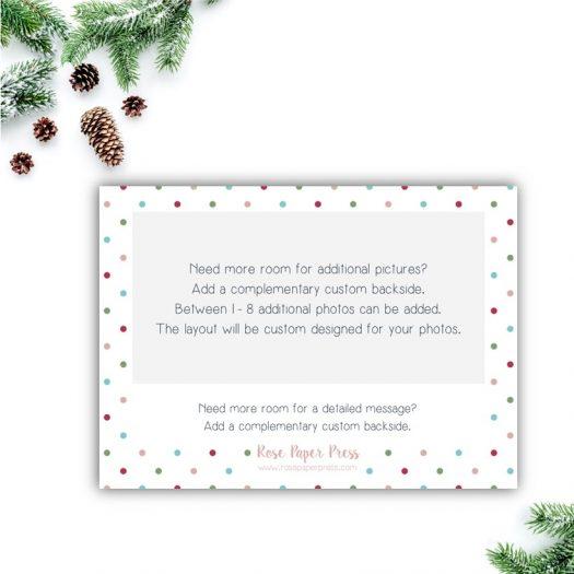 Polka Dots Holiday Card Back
