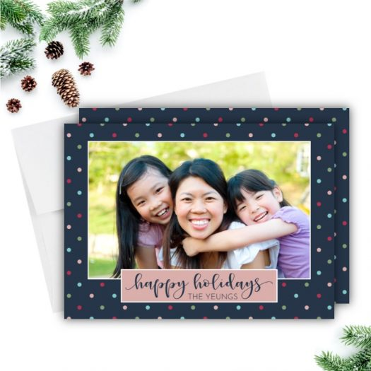 Polka Dots Holiday Card