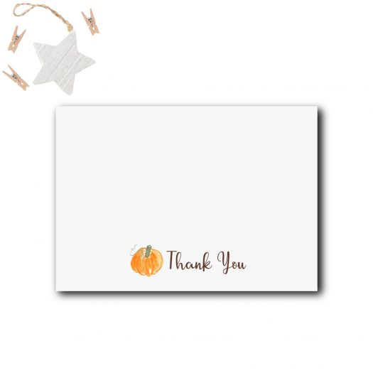 Pumpkin Baby Shower Thank You Card