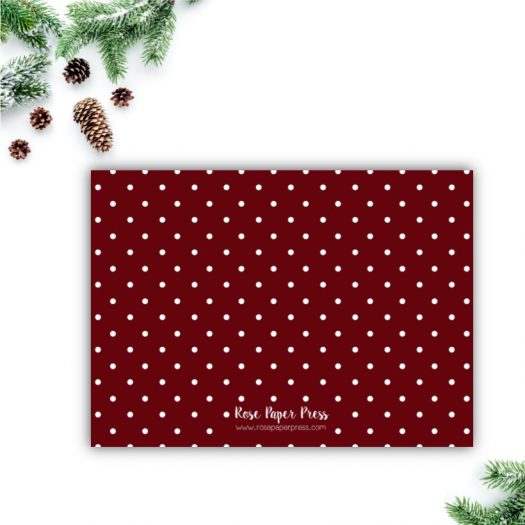 Red Polka Dots Christmas Card