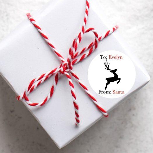 Reindeer Santa Stickers