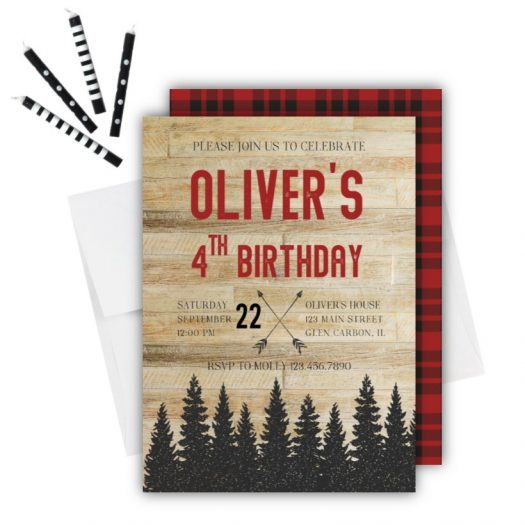 Rustic Mountain Birthday Invitation