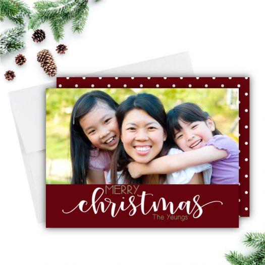 Script Christmas Card