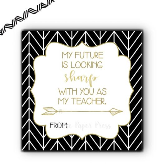 Sharpie Teacher Gift Tag