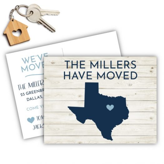 Shiplap State Moving Postcard