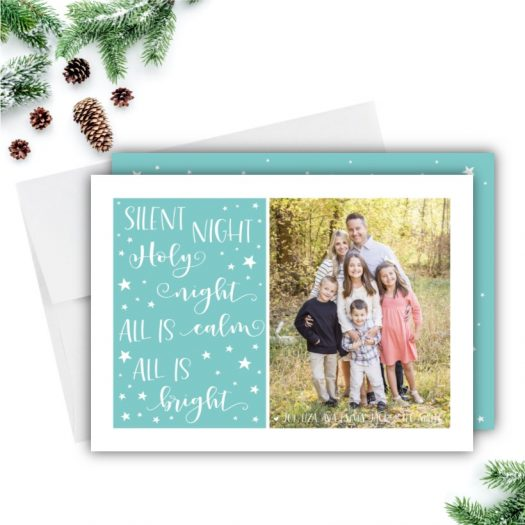 Silent Night Holiday Card