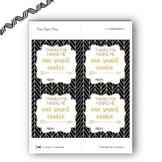 Smart Cookie Herringbone Gift Tags