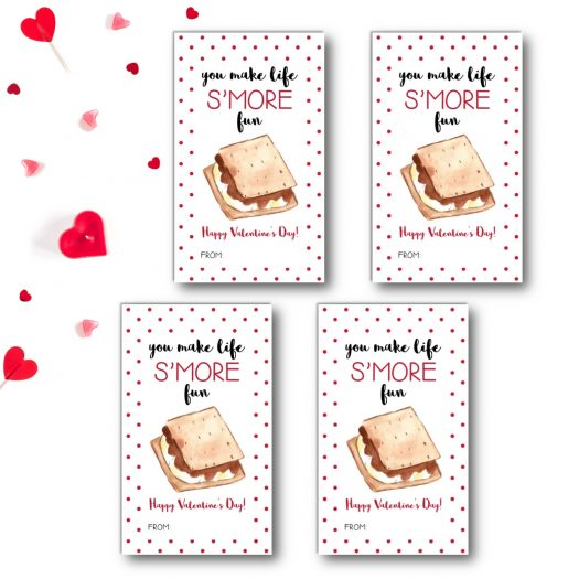 Smores Kids School Valentines Cards