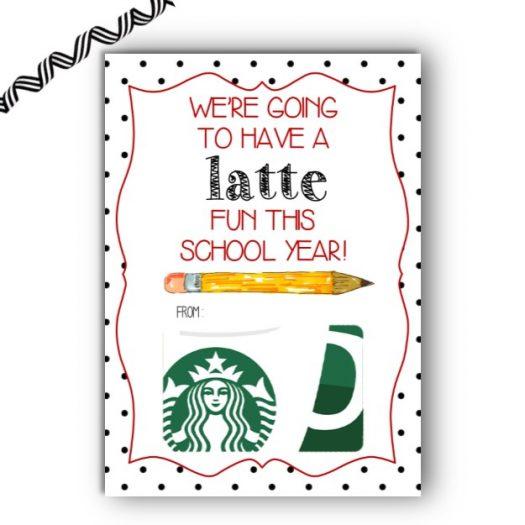 Starbucks Back to School Gift Card Holder