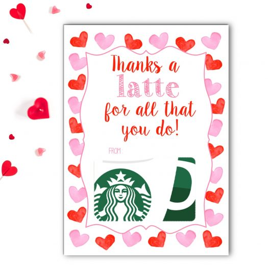 Starbucks Teacher Valentines Gift Card Holder