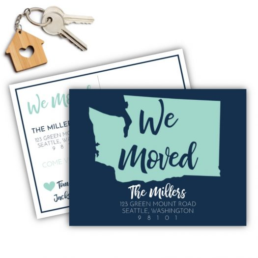 State We Moved Moving Postcard