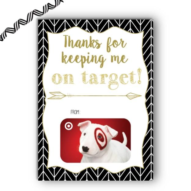 Target Herringbone Gift Card Holder Rose Paper Press