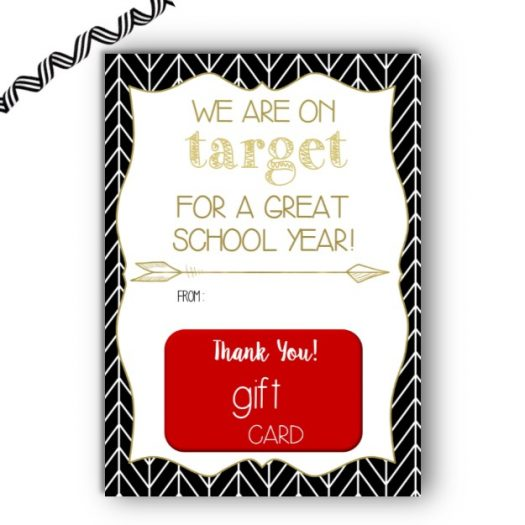 Target Back to School Gift Card Holder
