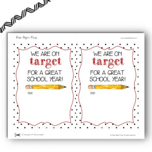 Target Back to School Gift Card Holder