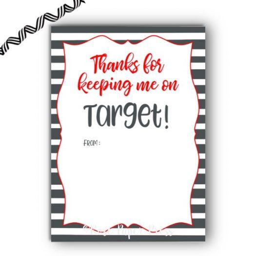 Target Stripe Gift Card Holder