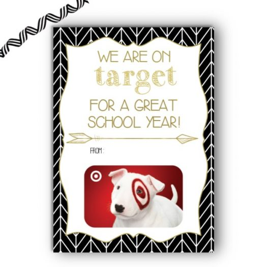 Target Teacher Back to School Gift Card Holder