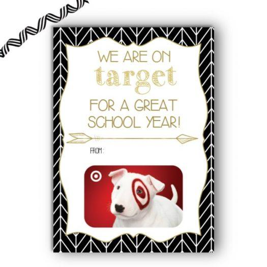 Target Teacher Back to School Gift Card Holder