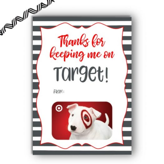 Target Teacher Gift Card Holder
