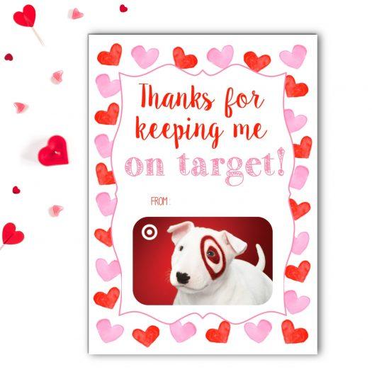 Target Teacher Valentines Gift Card Holder