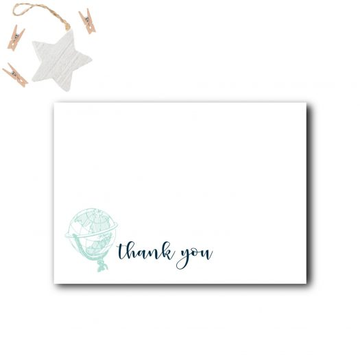 Travel Baby Shower Thank You Card