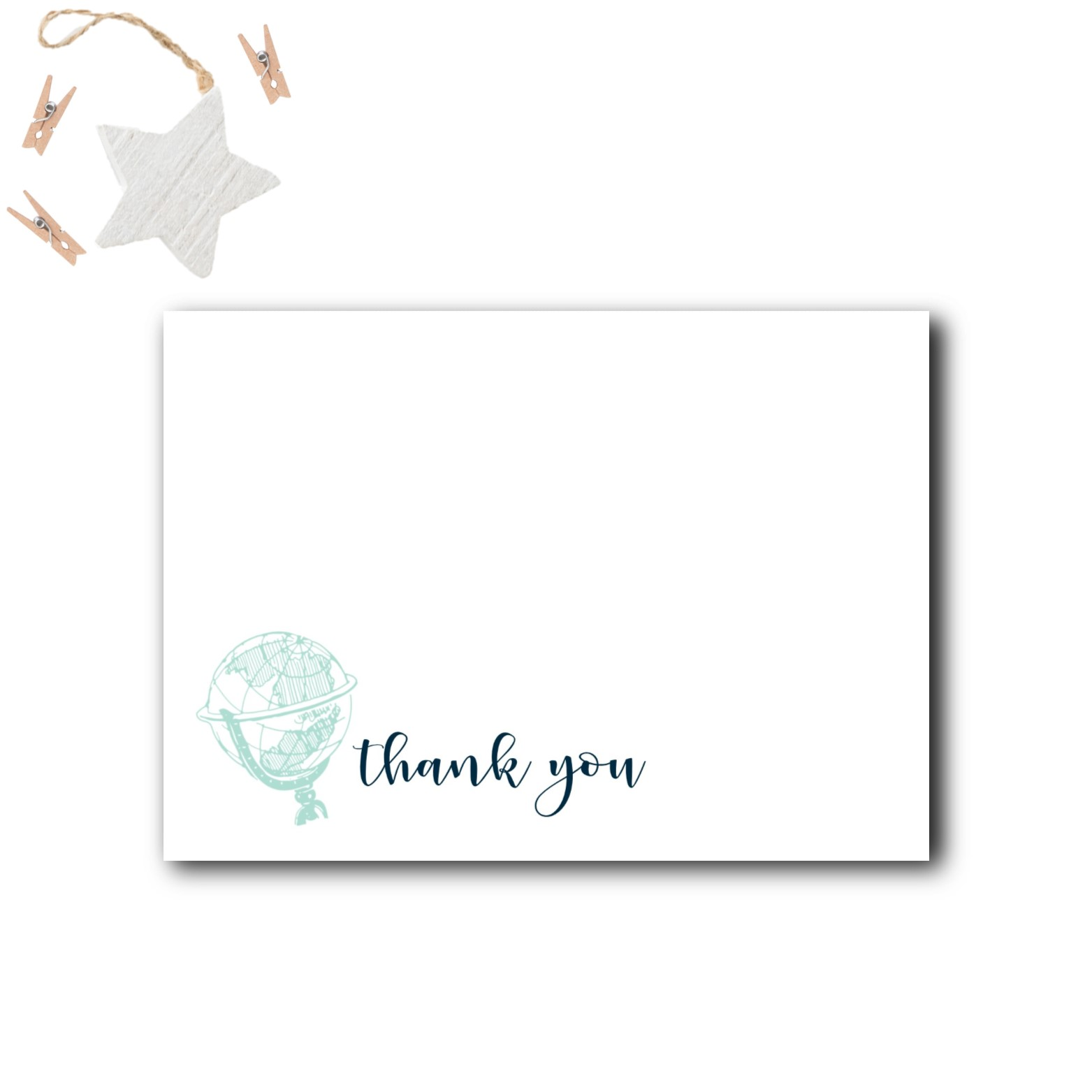 Travel Baby Shower Thank You Cards Rose Paper Press
