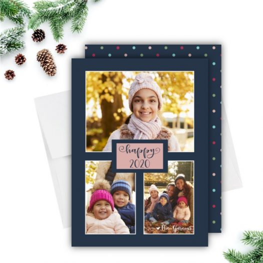 Trio Stars Holiday Photo Card