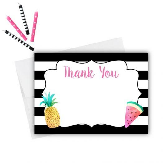 Twotti Frutti Thank You Card