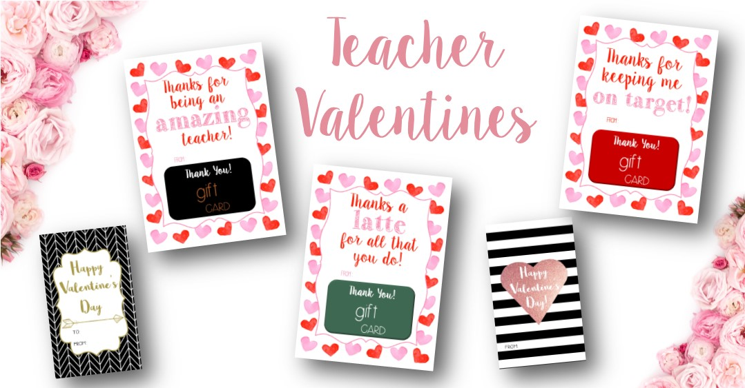 Valentines For Teachers Rose Paper