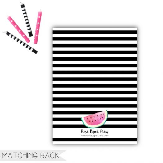 Watermelon Birthday Invitation Back