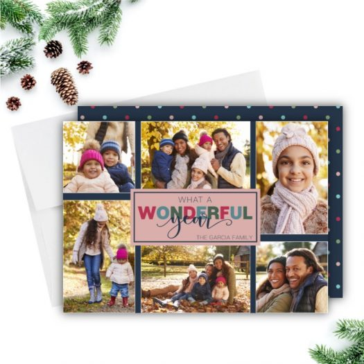 Wonderful Year Holiday Card