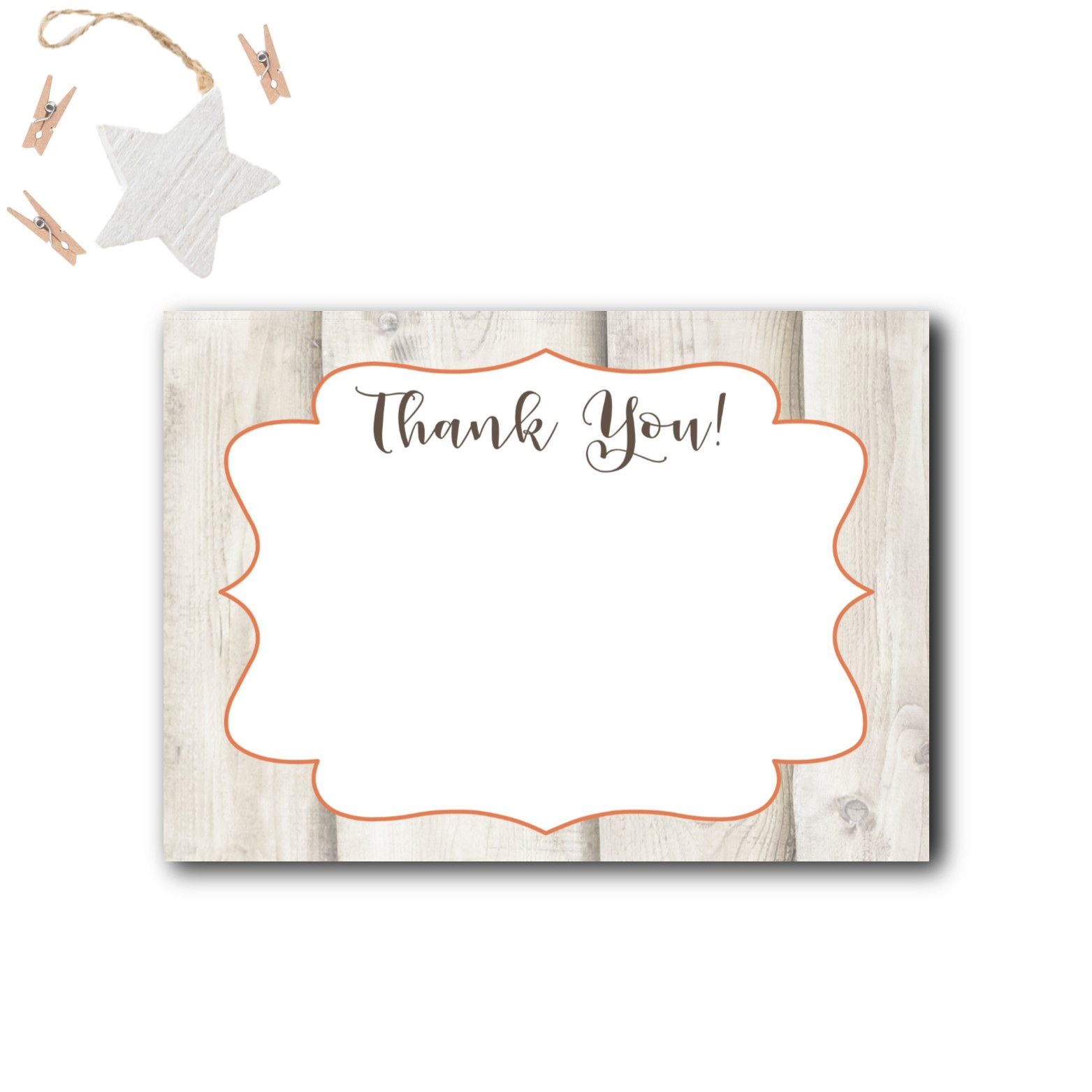 woodland baby shower thank you cards  rose paper press