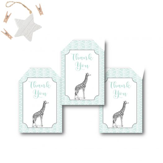 Zoo Baby Shower Favor Tags