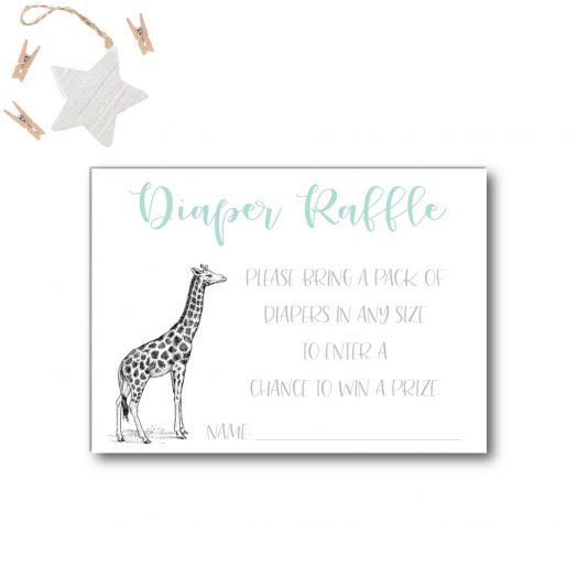 Zoo Diaper Raffle Card